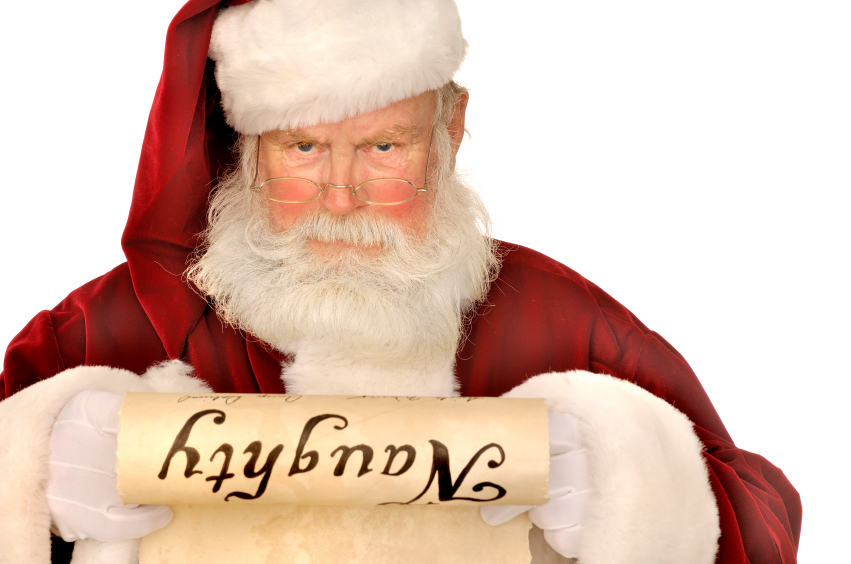 Santa with his Naughty PhoneSex Girl List